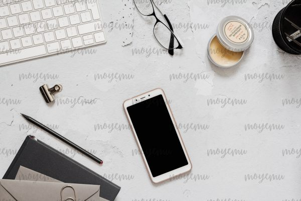Gray Workspace 04 | Bank zdjęć Moyemu - zdjęcia dla Twojego bloga i biznesu