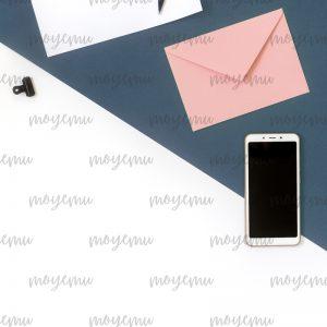 Blue-peach Minimal 04 | Bank zdjęć Moyemu - fotografie dla bloga i biznesu