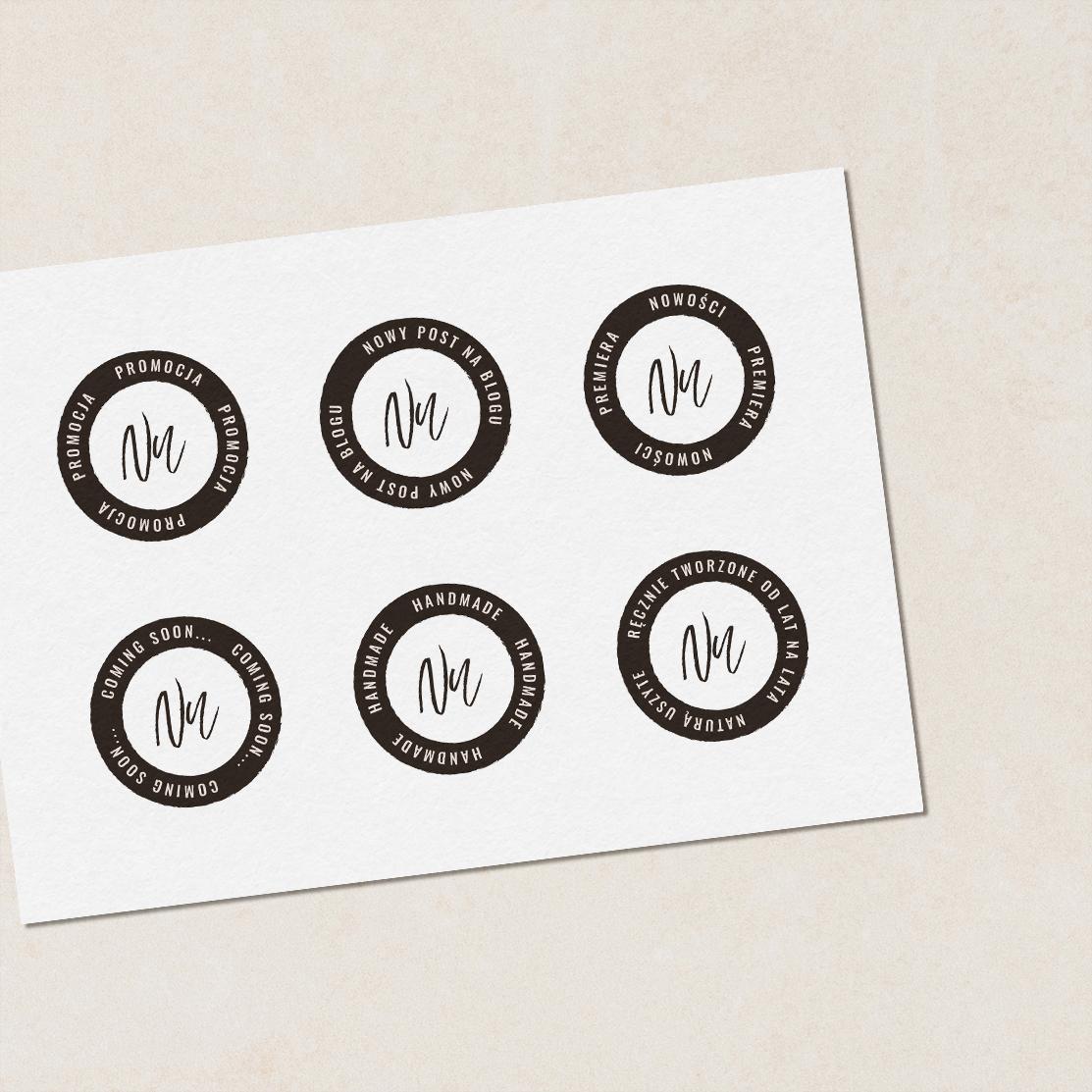 Hello! Autumn - stemple personalizowane, uniwersalne stemple | Gotowa identyfikacja wizualna | Hello! Beautiful brand | Sklep Moyemu