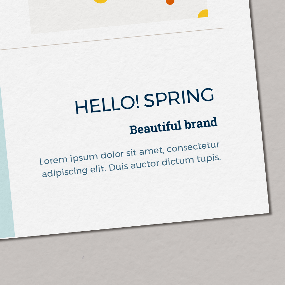 Hello! Spring - typografia dla marki, zestaw fontów marki, czcionki nastronę | Gotowa identyfikacja wizualna | Hello! Beautiful brand | Sklep Moyemu