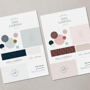 Hello! Summer | Gotowa identyfikacja wizualna, gotowe logo, paleta barw, fonty, wzory i tła, ikony, stemple personalizowane | Hello! Beautiful brand | Sklep Moyemu