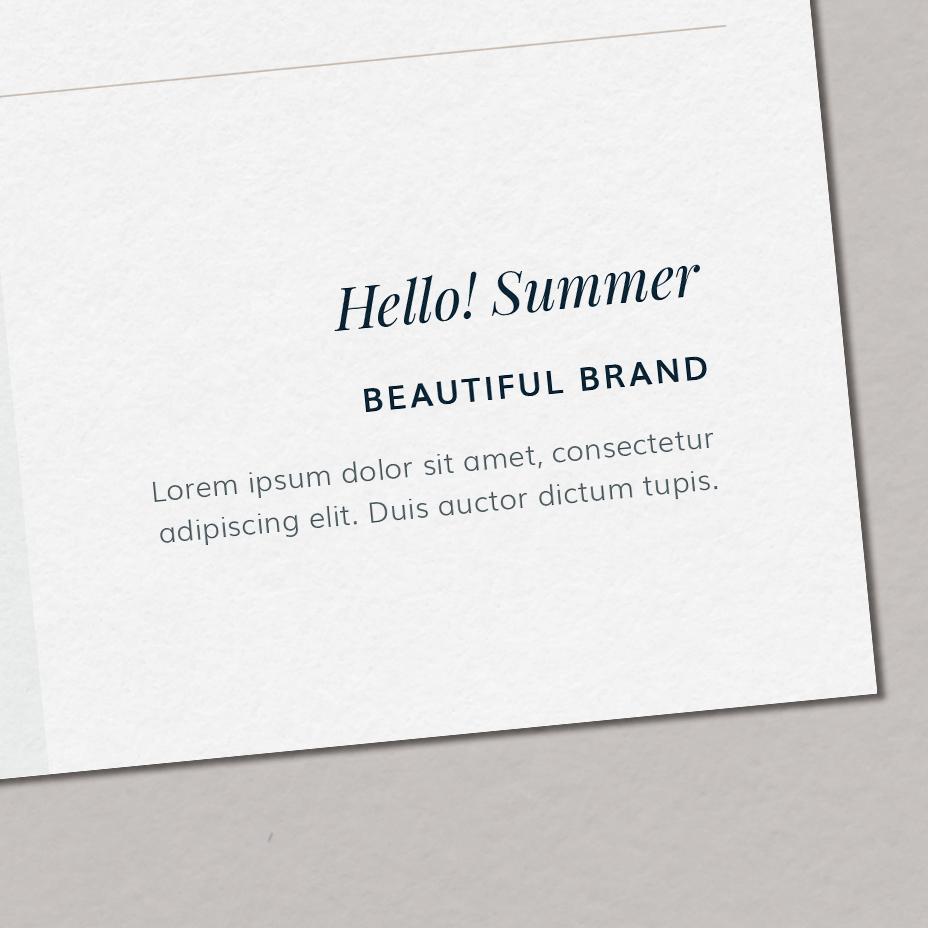 Hello! Summer - typografia dla marki, zestaw fontów marki, czcionki nastronę | Gotowa identyfikacja wizualna dla marki letniej, osobowość letnia | Hello! Beautiful brand | Sklep Moyemu