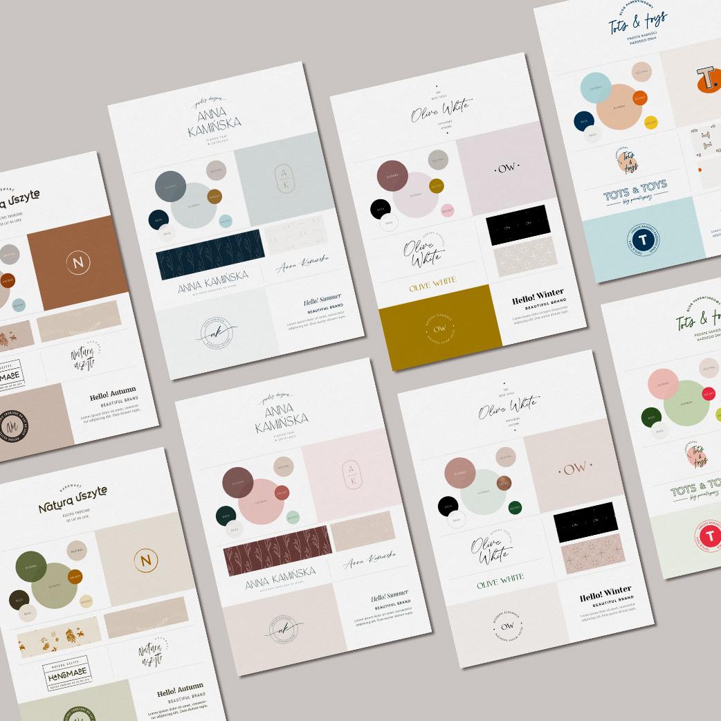 Hello! Beautiful brand - gotowa identyfikacja wizualna dla marki | Sklep Moyemu