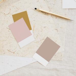Modyfikacja palety barw w gotowej identyfikacji wizualnej Moyemu Oh Beautiful brand